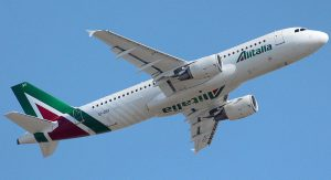 Alitalia am Flughafen Rom-Fiumicino