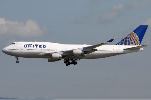 United Airlines am Flughafen Los Angeles