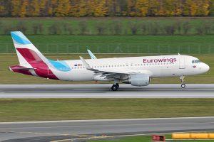 Eurowings am Flughafen Dresden
