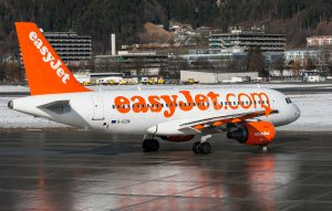 easyJet am Flughafen London Stansted