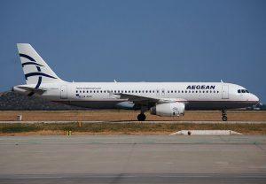 Aegean Airlines am Flughafen Rhodos