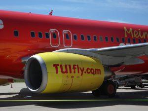 TUI Fly am Flughafen Faro