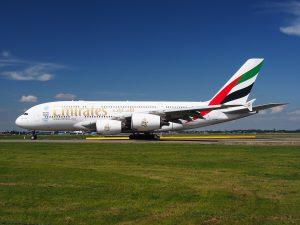 Emirates am Flughafen Frankfurt