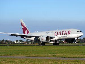 Qatar Airways am Flughafen Dubai