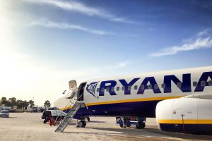 Ryanair am Flughafen London Stansted