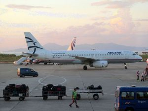 Aegean Airlines am Flughafen Stuttgart