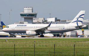 Aegean Airlines am Flughafen Frankfurt