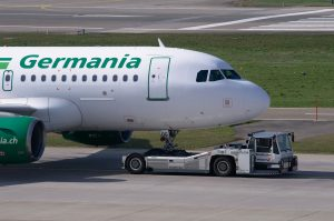 Germania am Flughafen Rhodos