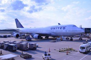 United Airlines am Flughafen Frankfurt