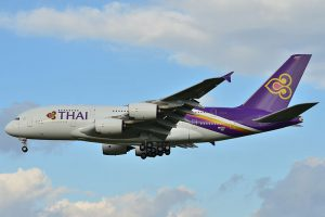 Thai Airways am Flughafen Phuket