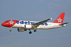 Edelweiss Air am Flughafen Larnaka