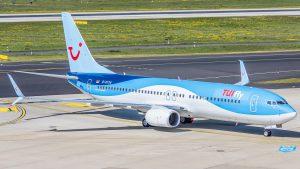 TUI Fly am Flughafen Larnaka