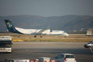 Olympic Air am Flughafen Mykonos