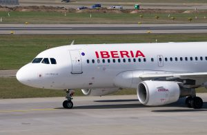 Iberia am Flughafen Lanzarote