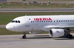 Iberia am Flughafen Madrid