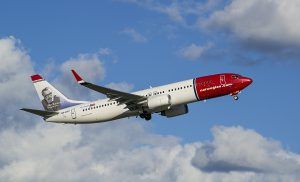 Norwegian Air Shuttle am Flughafen Belgrad