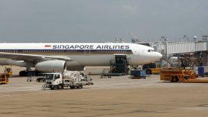 Singapore Airlines am Flughafen Frankfurt