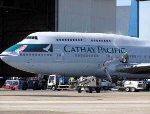 Cathay Pacific am Flughafen Frankfurt