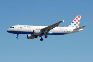 Croatia Airlines am Flughafen Pula