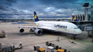 Lufthansa am Flughafen Sofia