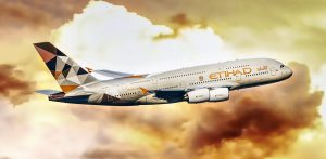 Etihad Airways am Flughafen Frankfurt