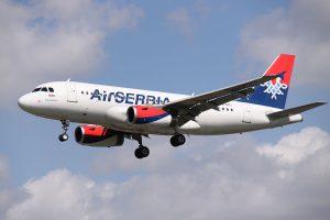 Air Serbia am Flughafen Belgrad