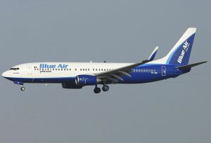 Blue Air am Flughafen Bukarest