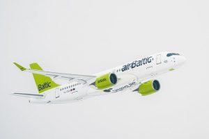 Air Baltic am Flughafen Frankfurt